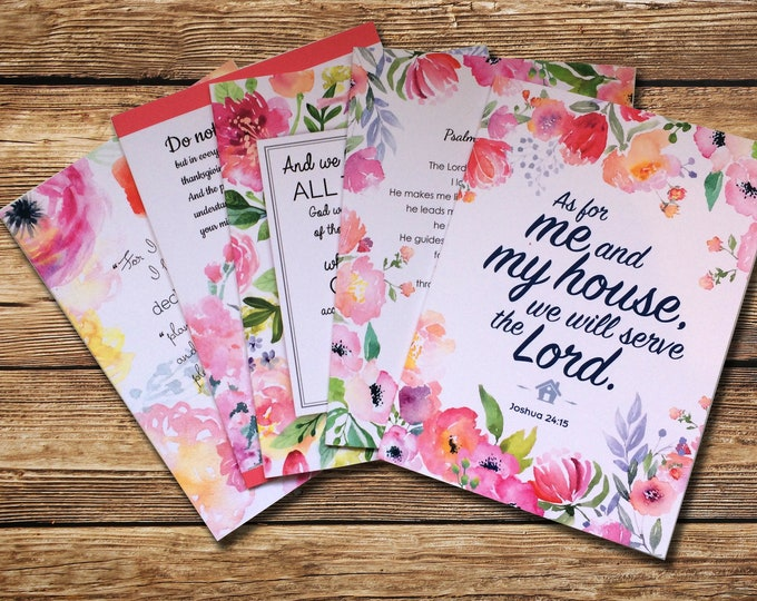 Floral Glory to God Notecards - Set of 10 (2 of each design)