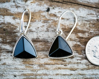 Fine Earrings Fine Jewellery Natural Black Tourmaline Green Chrome 925 Sterling Silver Earrings Handmade Uk