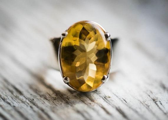 Citrine Ring 5.5 thru 8 Citrine Ring beautiful citrine sterling silver Citrine Ring Citrine  Ring size 5.5-8 november birthstone