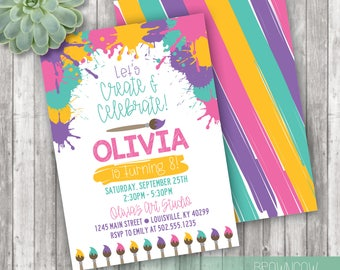 Art Party Invitation, Painting Party, Paint Party Invitation, Instant Download, Editable Invitation, Printable Invitation