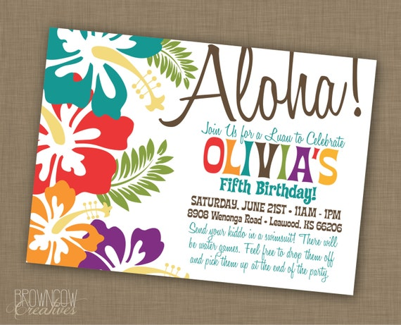 picture regarding Printable Luau Party Games known as PRINTABLE Luau Occasion Invitation
