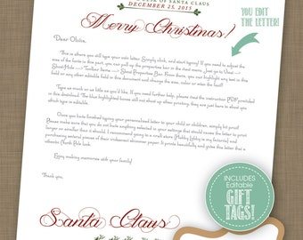 Gift from santa etsy editable instant download letter from santa claus santa claus letterhead editable gift spiritdancerdesigns Image collections