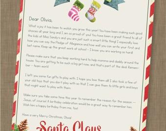 INSTANT DOWNLOAD EDITABLE Santa Letter // Letter from Santa