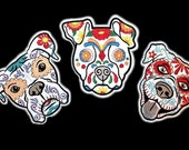 Day of the Dead Patch, Calavera Dog, Sugar Skull, Mexican Dia de los muertos iron on sew on patch, day of the dead embroidered patch, skull