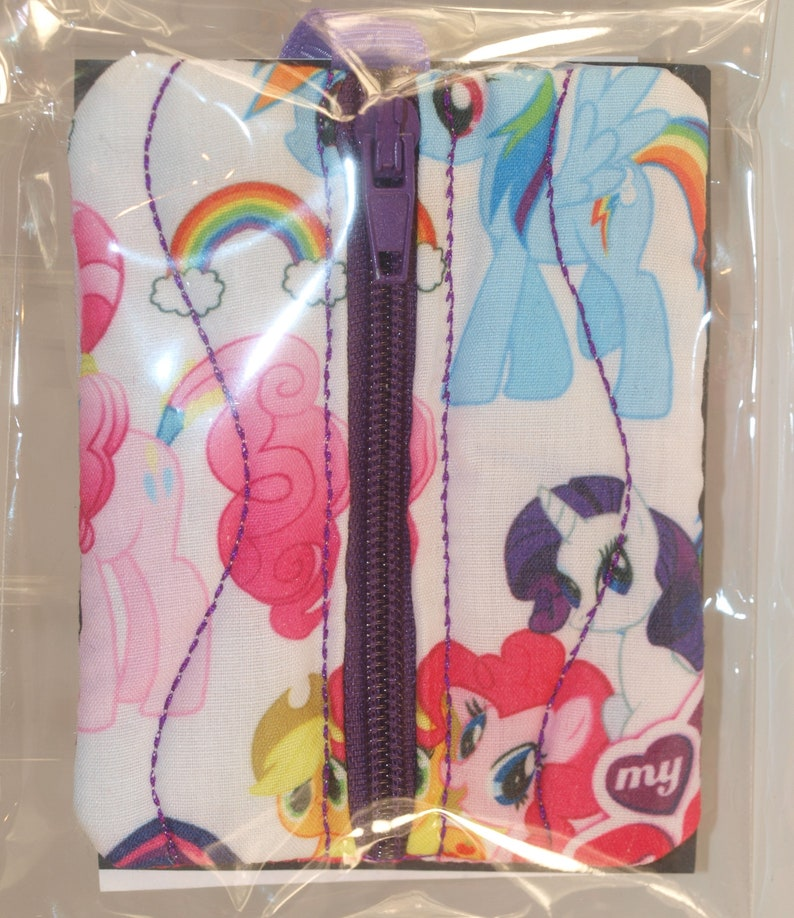 MY LITTLE PONY FABRIC COIN POUCH WITH BAG /& KEYRING ATTACHMENT BRAND NEW …