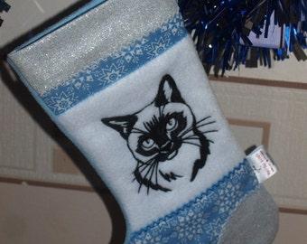 Cat Christmas Stocking, Pet Stocking, Christmas Cat stocking, Animal stocking, Christmas Stocking, Festive stocking, Cat gifts, Stockings