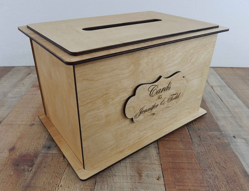 Wedding Card Boxes For Reception Personalized Card Box Wedding Keepsake Box Wood Card Box Wedding Card Box With Slot