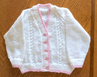 Knitted Baby Cardigan Knit Baby Sweater Knitted Baby Etsy