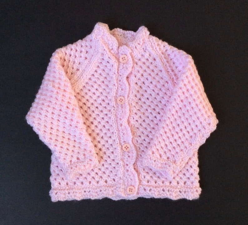 fe83ee9c4470 Knitted Baby Cardigan Newborn knit baby girl sweater | Etsy