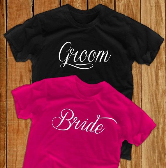 Bride Shirt Groom Gift Personalized Tshirt Groomsmen Gift