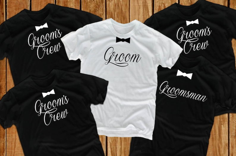 d76e45a3 Groom t shirts 7 groom gift Bachelor Party wedding t shirts | Etsy