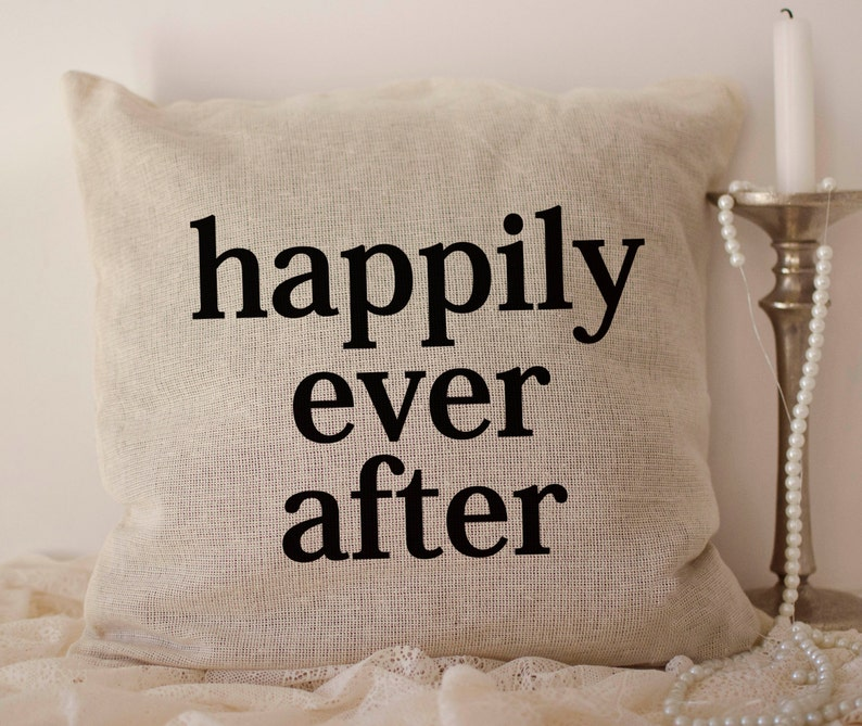 Personalized ivory burlap Mr and Mrs date pillow cover with custom color options