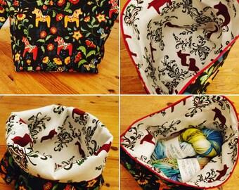Dala horse project bag