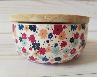 10 oz. Floral Container with Lid Soy Wax Candle (Choose your Scent)