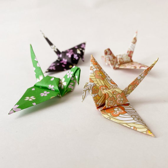 1000 Gold Origami Paper Cranes Made With 3 Inch Paper READY TO SHIP