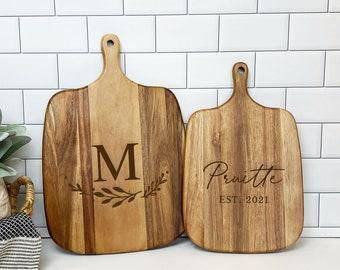 Personalized Cutting Board, Acacia Cutting Board, Housewarming Gift, Custom Cutting Board, Wedding Gift, Cutting Board Personalized