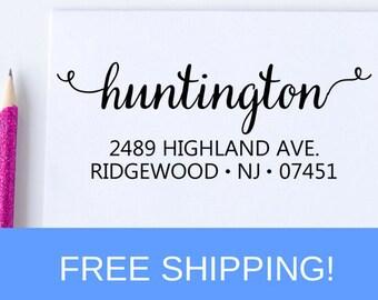 Return Address Stamp, Custom Address Stamp, Personalized Stamp, Self Inking Stamp, Wedding Stamp, Housewarming Gift   (D106)