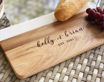 Personalized Marble Wood Cutting Board, Cheese Board, Charcuterie Board, Anniversary Gift, Wedding Gift, Housewarming Gift, Serving Board