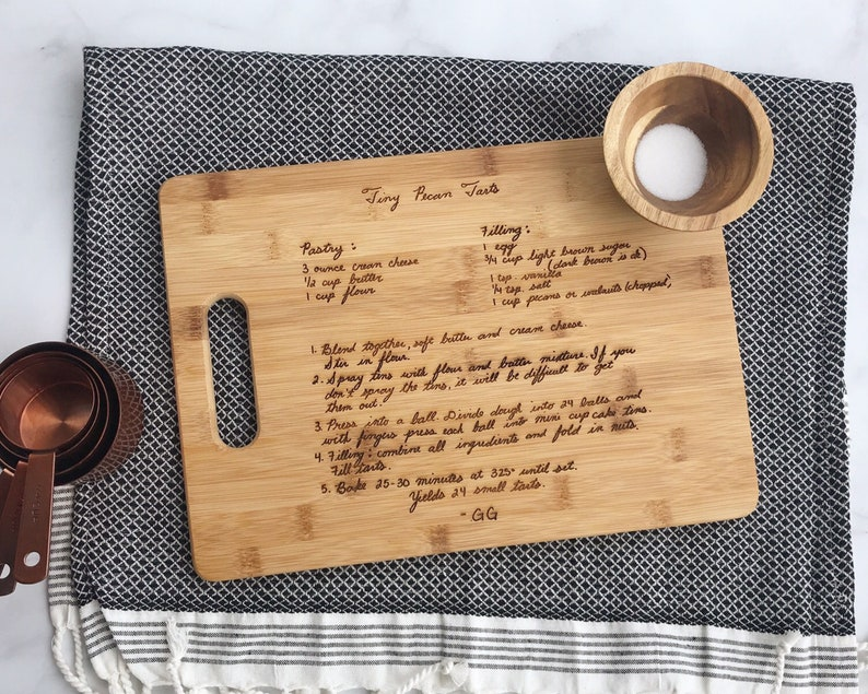 Recipe Cutting Board Grandma's Handwritten Recipe image 0
