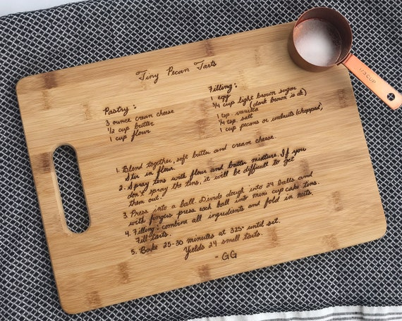 Recipe Cutting Board Grandma's Handwritten Recipe