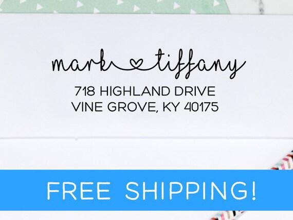 Custom Address Stamp, Address Stamp, Personalized Stamp, Return Address Stamp, Housewarming Gift, Wedding Gift, Gift for Her (D173)