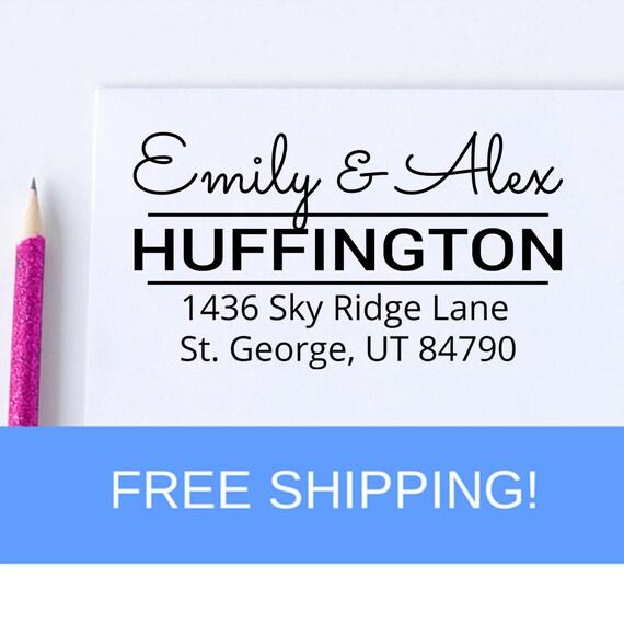 Return Address Stamp - Address Stamp - Self Inking Address Stamp - Christmas Gift  (D3)