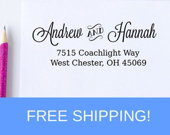 Address Stamp, Return Address Stamp, Self Inking Stamp, Custom Address Stamp, Personalized Stamp, Housewarming Gift, Birthday Gift  (D174)