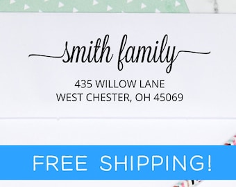 Return Address Stamp - Custom Address Stamp - Self Inking Address Stamp - Personalized Stamp - Housewarming Gift  (D372)
