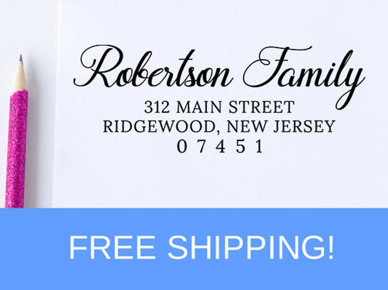 D242 Custom address stamp realtor gift housewarming gift mothers day gift Return Address Stamp wedding gift self inking stamp