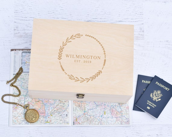 Personalized Wooden Memory Box Keepsake Box Wood Memory Box Wedding Gift Couples Gift Anniversary Gifts Couple S Custom Box Photo Box