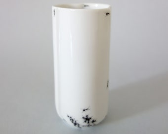 Chitins Gloss - Vase - Vintage Porcelain - Handpainted With Ants