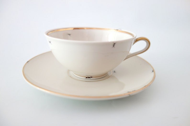 Chitins Gloss  Tea Cup  Vintage Porcelain  Handpainted With image 2