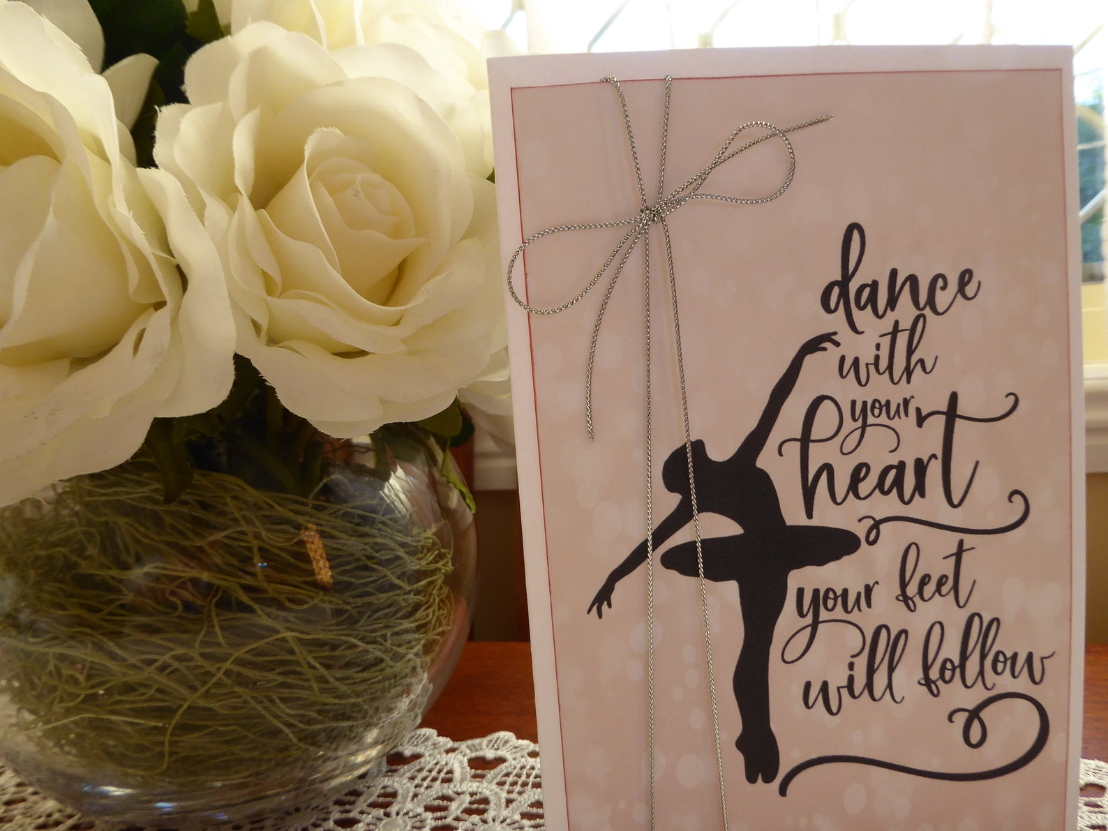dance with your heart - ballerina card - happy birthday - ballet, ballerina, dance,princess, pointe shoes, ballet feeds my soul