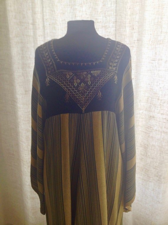 Ethnic long dress, embroidery, oriental, vintage 7