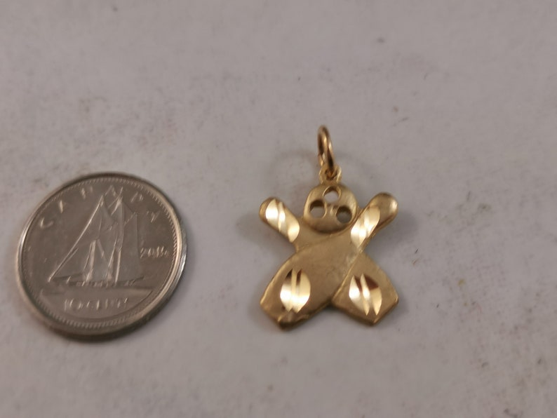10k yellow gold 10 pin bowling pendant or charm Bowling ball and 2 pins Professionally polished free shipping to Canada /& continental USA