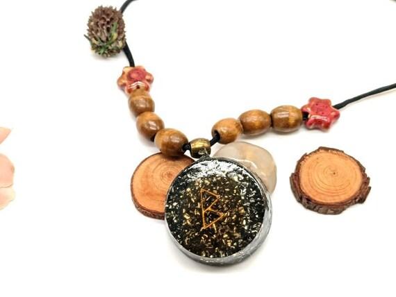 Orgone Pendant Shungite /& Magnetite 925 sterling silver hook Orgone Necklace Black for Woman Spiritual Healing Serenity Tranquility EMF