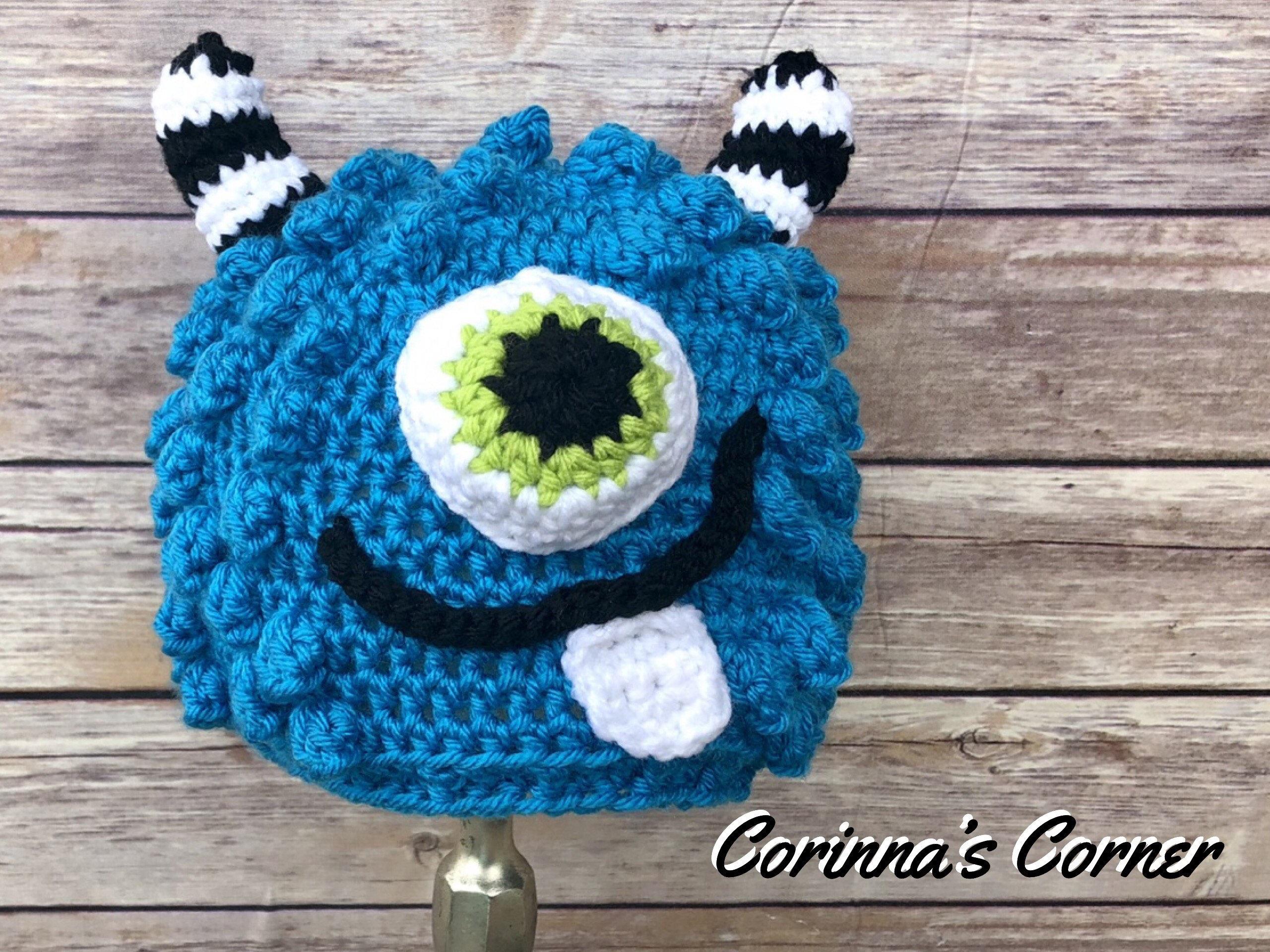 2181bc9c1ed1e Crochet Monster Hat Beanie Baby Child Toddler Adult