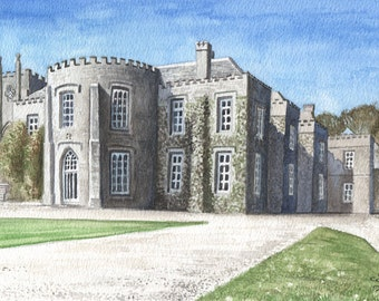 Prideaux Place Padstow in Watercolour, Cornwall in Watercolour