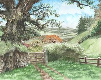 English Countryside, Original Watercolour Painting