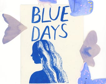 Blue Days Risograph Zine
