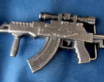 Vintage Large Rifle-Gun Belt Buckle