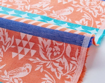 22.90 Eurmeter Japan fabric cotton linen canvas kokka 50 cm x 110 cm Ellen Baker Stencil Alpaca mint L906a