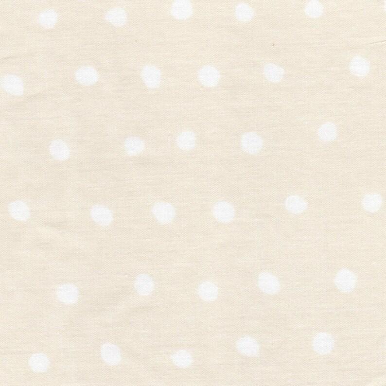 Apparel Fabric nani IRO Pocho Fabric 2020 ~ Wheat B ~ Kokka Fabric ~ Polka Dots~ Japanese Fabric ~ Naomi Ito ~ Organic Double Gauze Cotton
