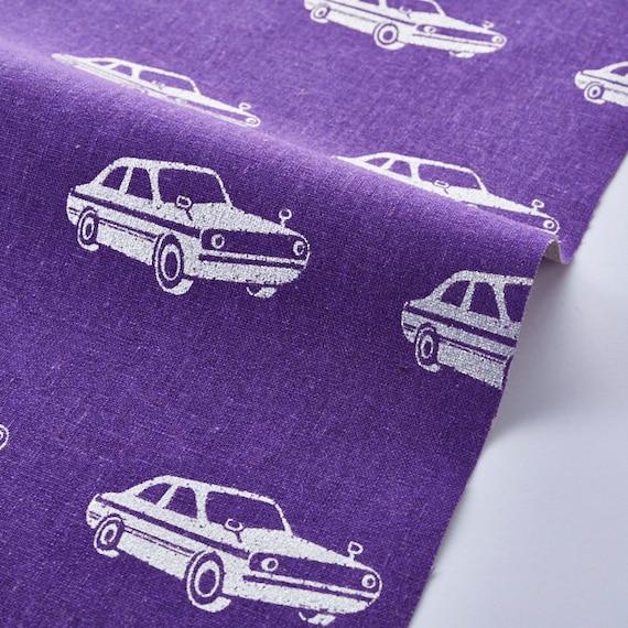 Japanese Fabric  Kokka Fabric  Blue Cars