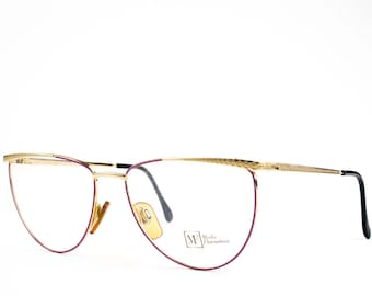 90s Vintage Eyeglasses | Lilac and Gold Eyeglass Frame | NOS 1990s Glasses | Vintage Deadstock -