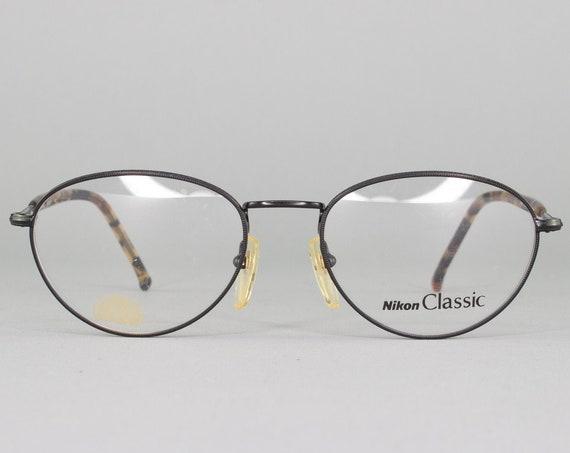 1990s Vintage Eyeglasses | 90s Glasses | Eyeglass Frame | Oval 90s Aesthetic | Dead Stock Eyewear - NC4633