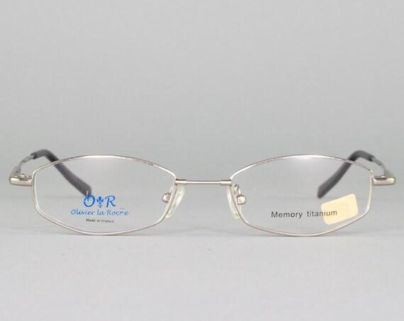 90s Glasses | 1990s Vintage Eyeglasses | Oval Eyeglass Frame | Retro Aesthetic | Deadstock Eyewear - OR