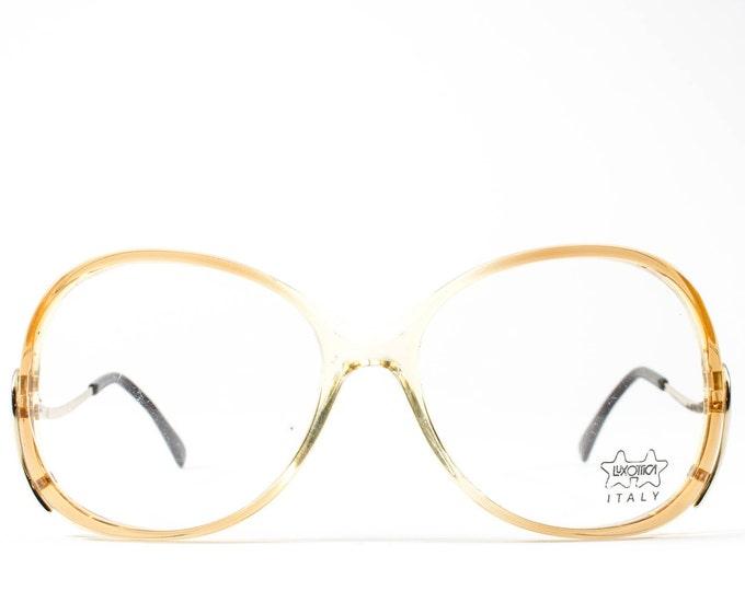 Vintage 80s Eyeglasses | 1980s Eyeglass Frames | Luxottica Glasses | Oversized Round Frame | Clear Eyewear - Tina