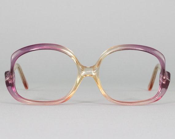 Vintage Eyeglasses   Round 70s Glasses   Clear Purple Eyeglass Frame   1970s Aesthetic   Deadstock Eyewear - Geneva