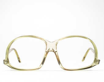 1970s Vintage Eyeglasses | 70s Glasses | Upside Down Glasses Frames | 1970s Deadstock | Clear Eyeglass Frames - M20-2